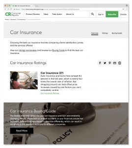 Consumer Reports Car Insurance